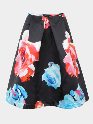 A-line & Full Skirt In Floral Print