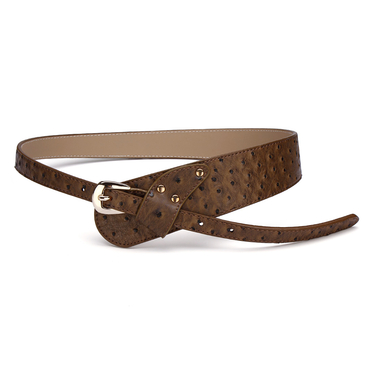 Wide Slim Dot Waist Belt