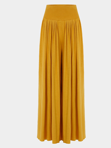 Wide Cut Leg Trousers