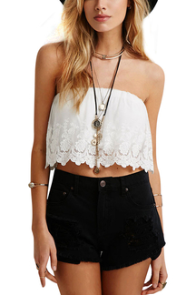 White Lace Overlay Bralet