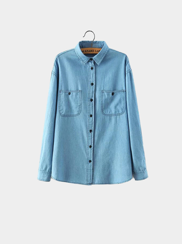 Light Blue Denim рубашка