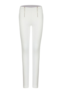 White Zipper Pencil Pants