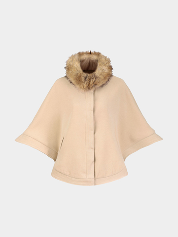 Light Khaki Cape with Removable Collar
