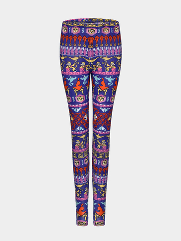 Rhombus Print Leggings