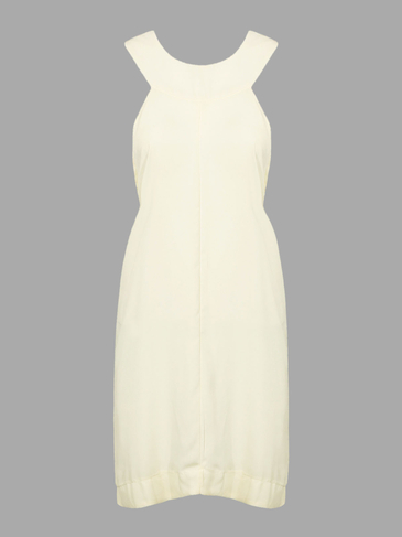 Beige Halter Dress with Cross Back