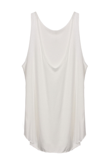 White Scoop Neck Modal Vest