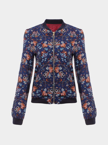 Floral Print Fashion Jacket