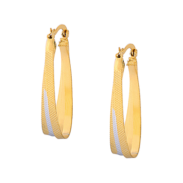 Simple Design Silver and Gold Plated Earrings Jewelry