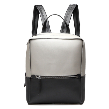 Grey & Black Casual Front Pocket Backpack