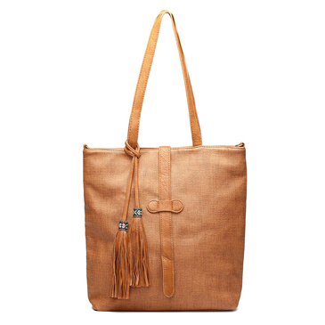 Brown Simple Tassel Embellished Shoulder & Across Body Bag