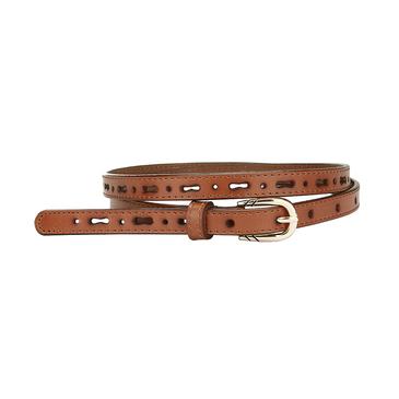 Brown Hollow Out Slim Belt