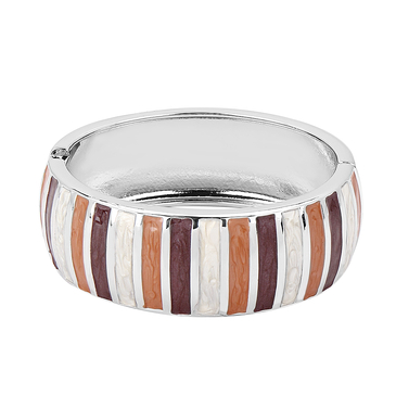 Stripe Pattern Bangle Bracelet