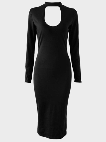 Black Bodycon Fit Sexy Dress