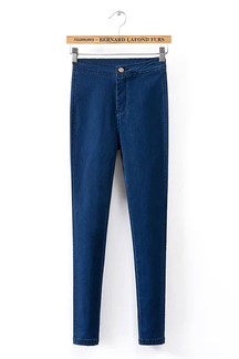 Skinny High-rise Waist Jeans in Navy