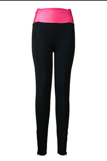 High-rise Leggings with Zip Details
