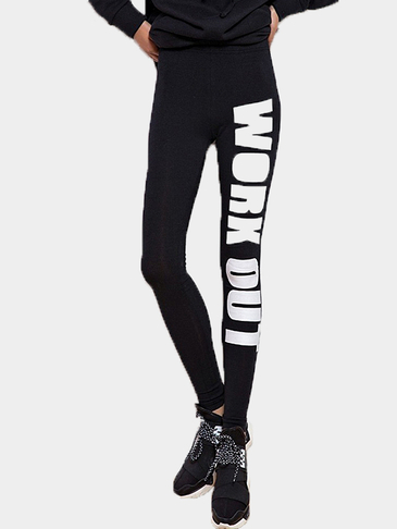 Letter Pattern Leggins