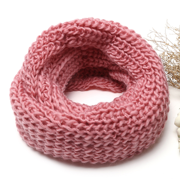 Pink Cosy Knitted Infinity scarf