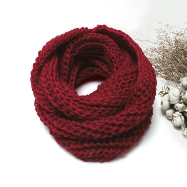 Burgundy Cosy Knitted Infinity scarf
