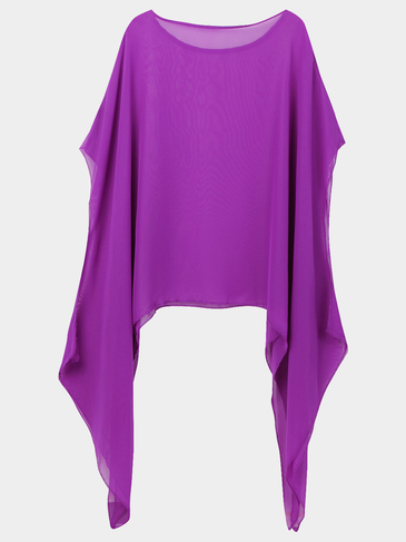 One Shoulder Mini Dress in Purple
