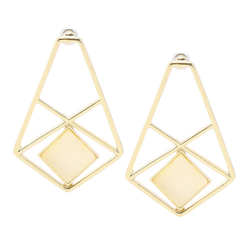 Geo Enamel Drop Earrings