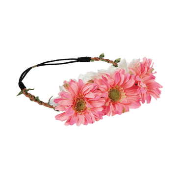 Pastoral Rattan Weave Stretch Headband in Flower