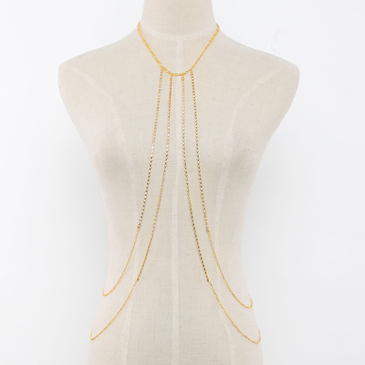 Cross Body Chain Necklace