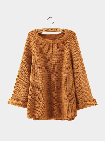 Ribbed Knit Jumper в хаки
