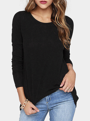 Long Sleeve Top with Zip Back