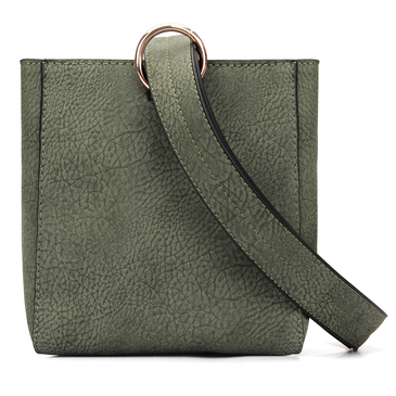 Square Mini Shoulder Bag in Moss Green