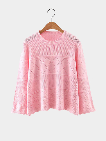 Pink Round Neck Sweater