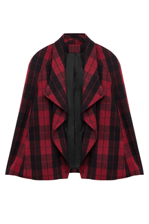 Red Plaid Cape