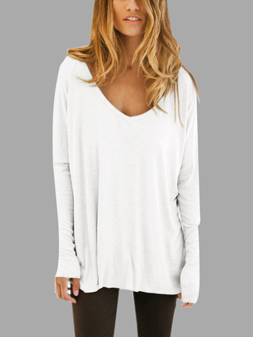 Sexy V Neck See-through Raglan Sleeves T-shirts