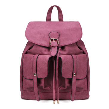 Due tasche frontali in similpelle Zaino in Red Rose