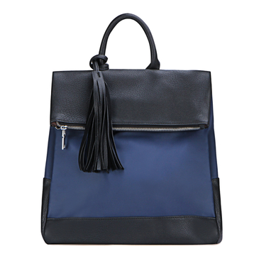 Blue Backpack with Tassel Embellished