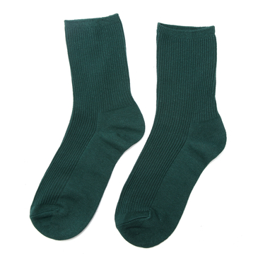 Green Black Ribbed Socks