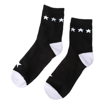 Star Soft Crew Socks in Black