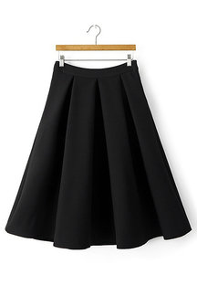 Jacquard Pattern Pleated Skirt