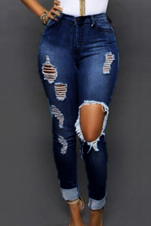 Skinny Jeans with Ripped Details