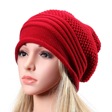 Knitted Causal Folded Design Hat