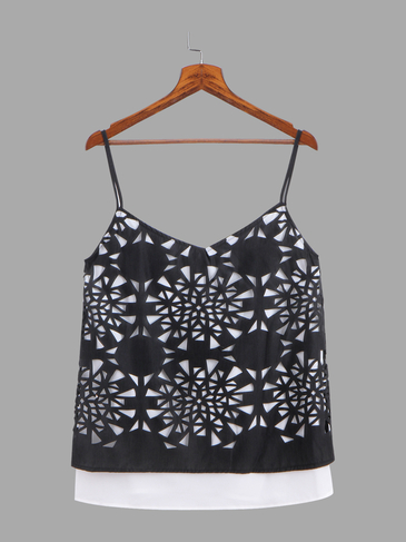 Black Crop Top With Sweetheart Neckline