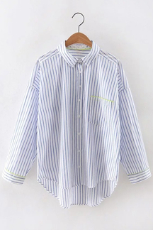 Casual Shirt In Stripe Pattern