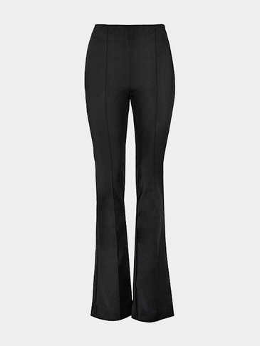 Flared Trousers in Black