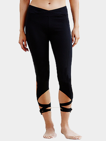 Leggings Black Turnout avec Self-Tie