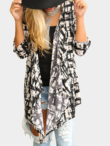 Fashion Ink Pattern Coat