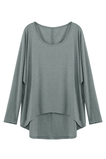Grey Loose Women Casual Blouse