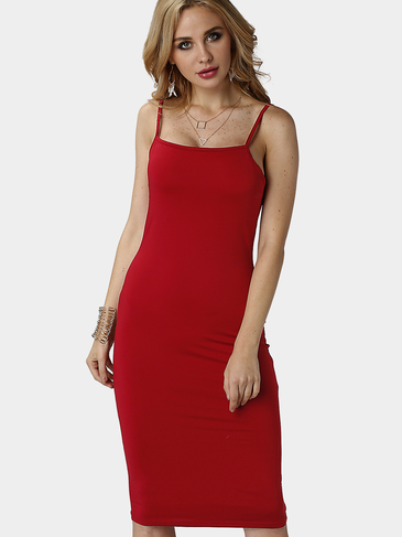 Burgundy Bodycon Chic Cami Dress