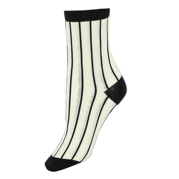 Retro Striped Ribbed Ankle Socks