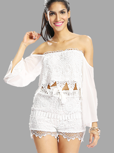 Off Shoulder Top with Lace Details