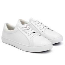 White Leather Look Perforated Sneakers