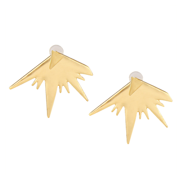 Irregular Graphics Girl Stud Earrings